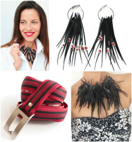 Upcycled Fashion Accessories by Laura Zabo