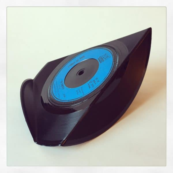 Upcycled Vinyl 7'' Into Single Phone Stands Recycled Vinyl