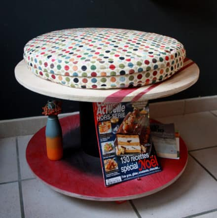 Wooden Spools Into Table & Seating