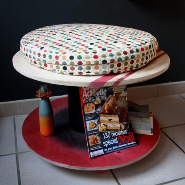 Wooden Spools Into Table & Seating Recycled Furniture