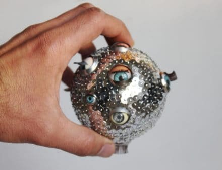 Doll Eyes Recycled Into Original Ball Ornaments