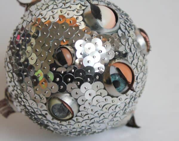 Doll Eyes Recycled Into Original Ball Ornaments Recycled Art Recycled Plastic