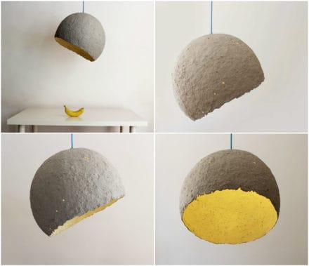 Lamp Made from Paper Waste - Globe