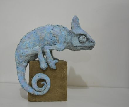 Solid Recycled Cardboard Animal Sculptures