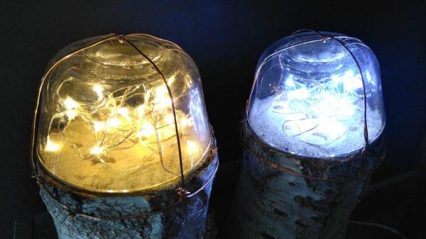 Dome Fairy Log Lamps Wood & Organic