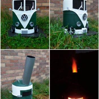 Volkswagen Campervan Log Burner