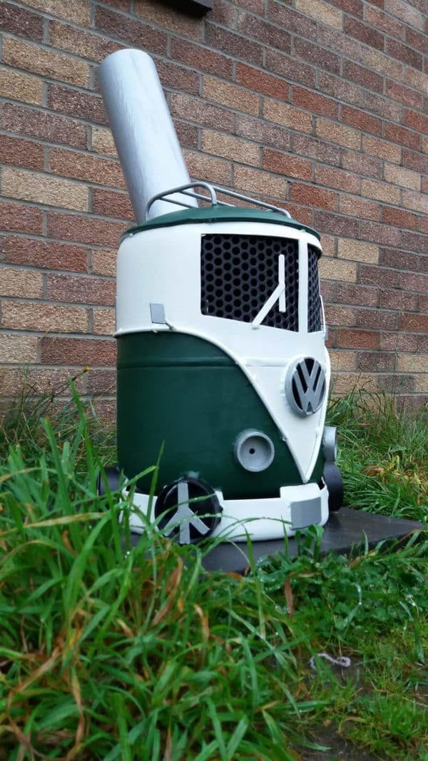Volkswagen Campervan Log Burner Recycling Metal