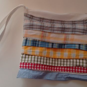 Clutch From Upcycled Collar Baby Shirts