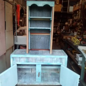 Coffee Bar & Base Cabinet From Recycled Pallets
