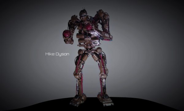 Mike Dyson, the 3m High Robot Sculpture from Recycled Vacuum Cleaners Recycled Art