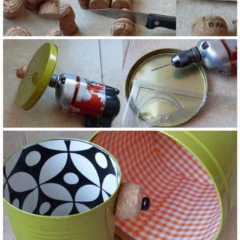 Recycling Cans Into Tiny Planters / Reciclado De Latas