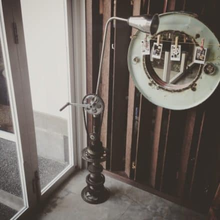 Upcycled Motorcycle Parts Into Beautiful Floor Lamp