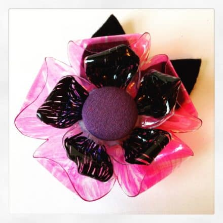 Upcycled Bottle Brooches/Corsages