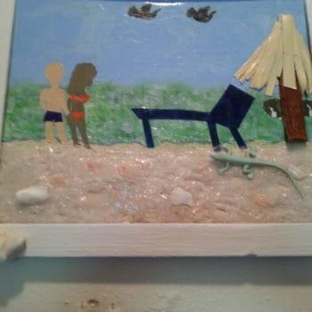 She Makes Sea Shell, Sea Sand Wall Art