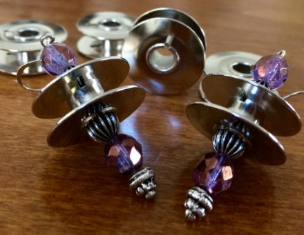 Upcycled Sewing Machine Bobbins Into Earrings