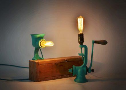 Vintage Grinder Lamp