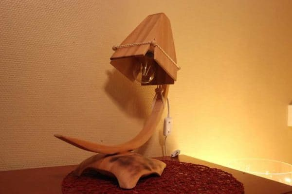 Wooden Lamp from One Left over Wooden Board Lamps & Lights Wood & Organic