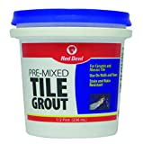 Red Devil 0422 Pre-Mixed Tile Grout, 1/2 Pint, White
