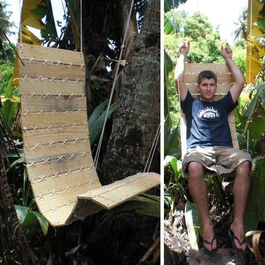 Pallets Outdoor Chair Do-It-Yourself Ideas Recycled Pallets