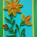 Recycled Shredded Paper Framed Flower
