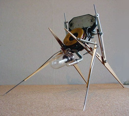 Spare Parts Bug Recycled Art