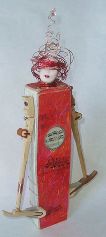 Bibliophile Recycled Art