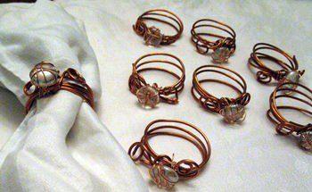 Copper Wire Napkin Rings