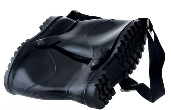 Rubber Boots As Bike Pouch Accessories Recycled Plastic
