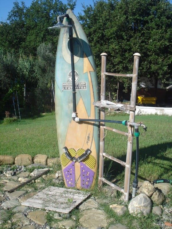 Garden Shower for Surfers • Recyclart