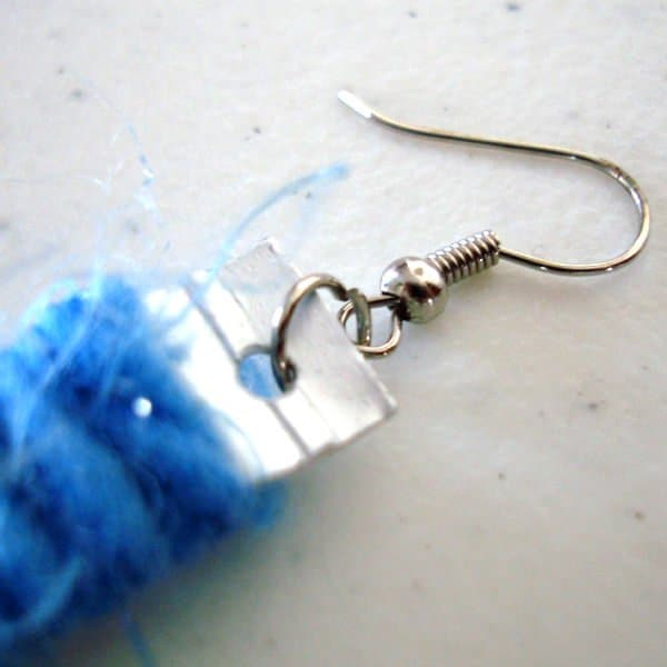 Milk Carton & Wool Into Jewelry Accessories Upcycled Jewelry Ideas