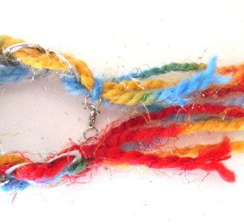 Wool can pull tab bracelet