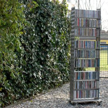 A CD Rack From Upcycled Treadplate