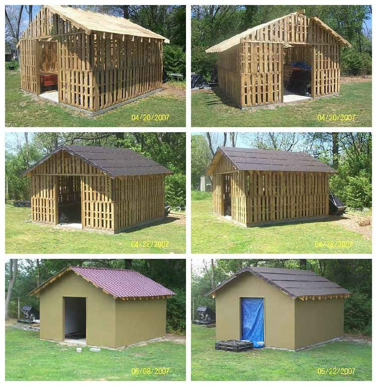 Shed Made From Reclaimed Pallets Recyclart