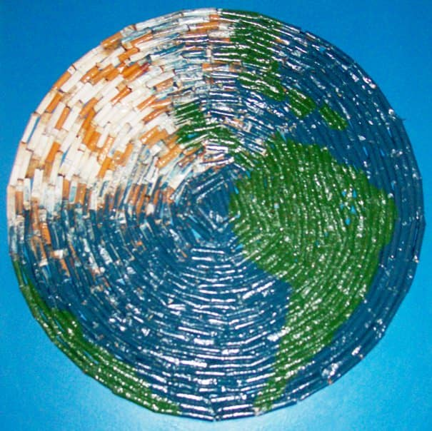 Our Beautiful Earth Recycled Art