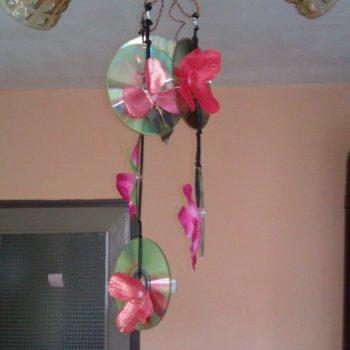 Old CDs Flower Chandelier