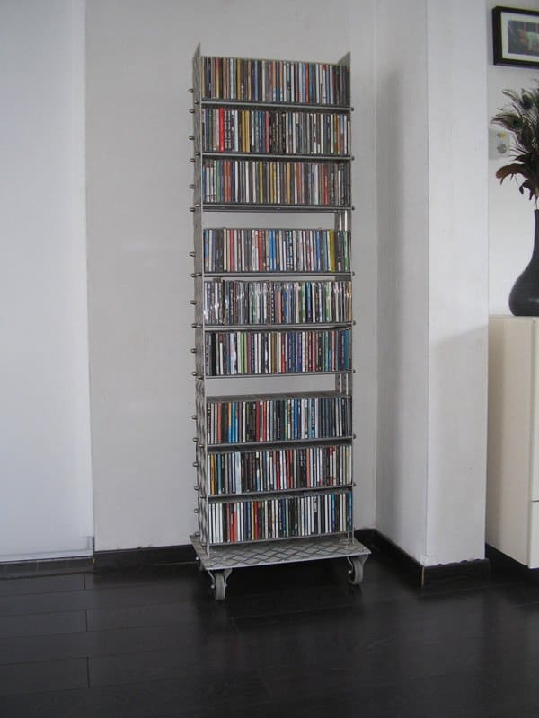 A Cd Rack From Upcycled Treadplate Recyclart