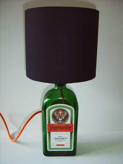 Jagermeister Bottle Lamp Lamps & Lights Recycled Glass