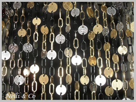 Curtain with Coins Accessories Recycling Metal