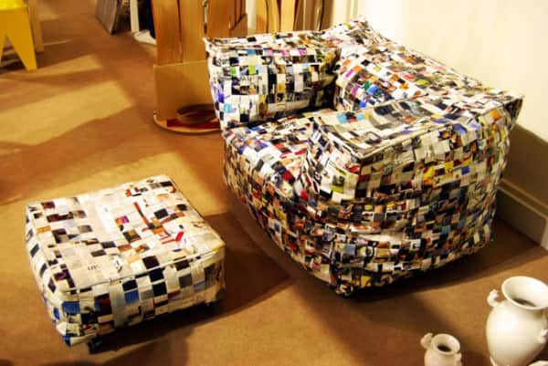 Sofa Away Recycled Art Recycled Furniture Recycling Paper & Books