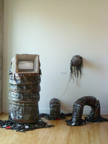 The Tapeworm Recycled Art Recycled Electronic Waste