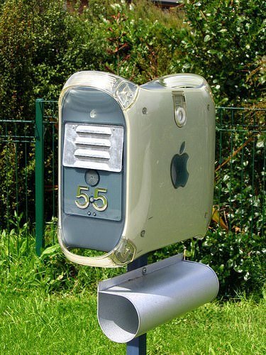 Apple Mail Box Interactive, Happening & Street Art Recycled Electronic Waste
