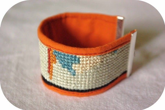 Canvas Bracelet Accessories Upcycled Jewelry Ideas