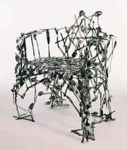 Cutlery Chair Recycled Furniture Recycling Metal