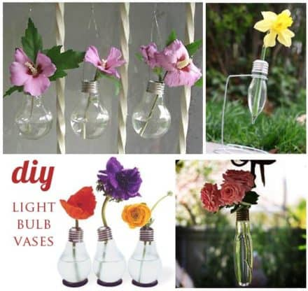 Diy : Recycle Old Light Bulbs