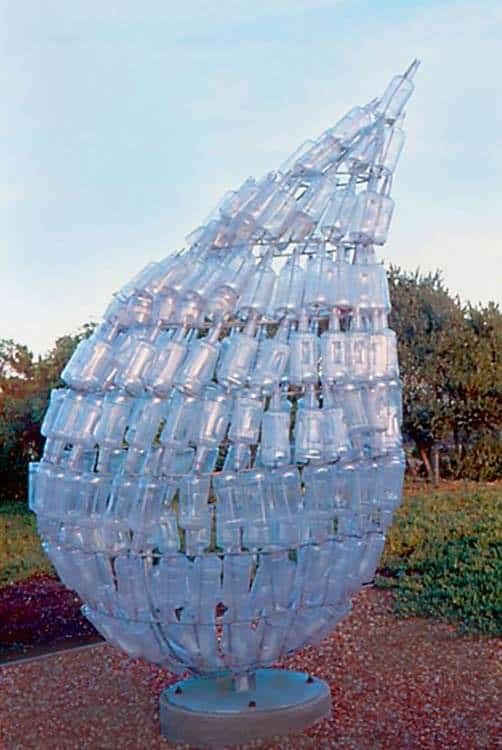 Earth Tear Recycled Art
