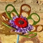 Flower Made from Upcycled Materials