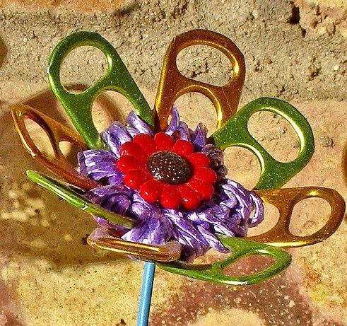 Flower Made from Upcycled Materials Recycled Packaging