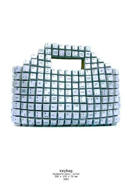Keyboard Bag Recycled Electronic Waste