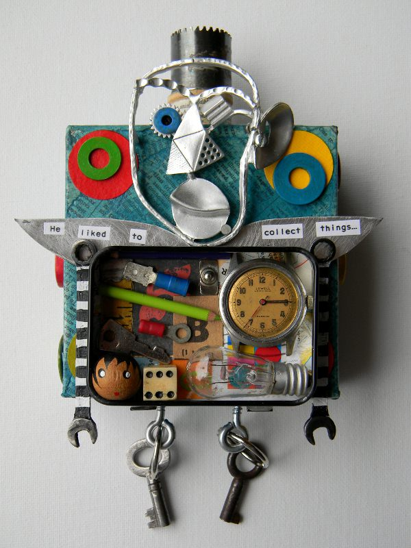Mixed Media Collages Recycled Art