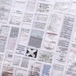 Old Labels Upcycled Into Cushion Clothing